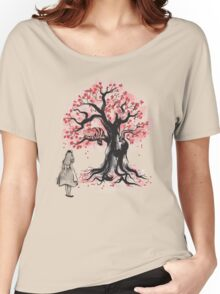 The Cheshire's Tree sumi-e (monochrome) Women's Relaxed Fit T-Shirt