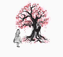 The Cheshire's Tree sumi-e (monochrome) Unisex T-Shirt