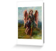 Archangel Raphael with Tobias Greeting Card