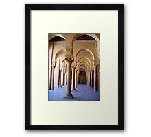 Archways and Columns of the Great Mosque of Kairouan in Tunisia Framed Print