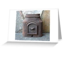 Antique Cast Iron Pipe Piece Greeting Card