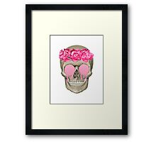 Roses and Skulls Framed Print