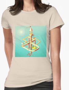 Low Poly Puzzle Scene Womens Fitted T-Shirt