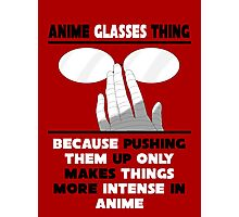 The Anime Glasses Thing Photographic Print