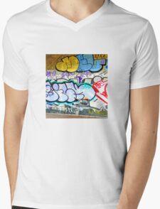 Brooklyn Graffiti 11 Mens V-Neck T-Shirt