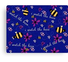 I Watch the Bees Canvas Print