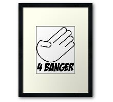 4 Banger Decal (White) Framed Print