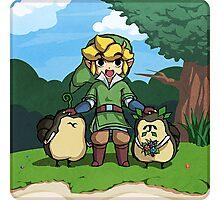 Legend of Zelda Skyward Sword: Link and Kikwis Photographic Print