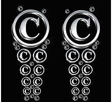 Copyright Symbol Silver Leggings Photographic Print