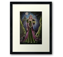 Fairy, faerie, fantasy,celtic lady castle Framed Print