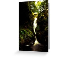 Aira Force Waterfall in the Lake District Greeting Card