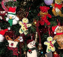 Christmas Decorations on Tree by EternalRainbow