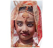 Young Indian Girl, NYC, Diwali, 2011 Poster