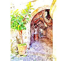 Agropoli: view alley Photographic Print