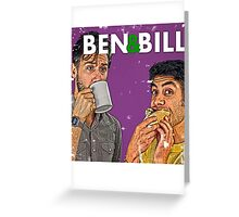 Ben & Bill - Hot Dogs and Coffee Greeting Card