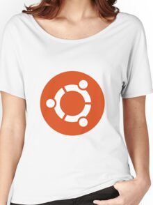 Ubuntu 1-Colour Logo Women's Relaxed Fit T-Shirt