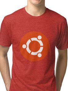 Ubuntu 1-Colour Logo Tri-blend T-Shirt
