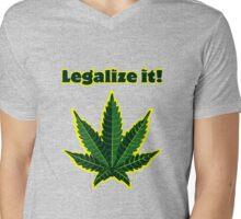 Legalize it! Mens V-Neck T-Shirt