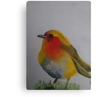 Birdy Painted with Oil Canvas Print