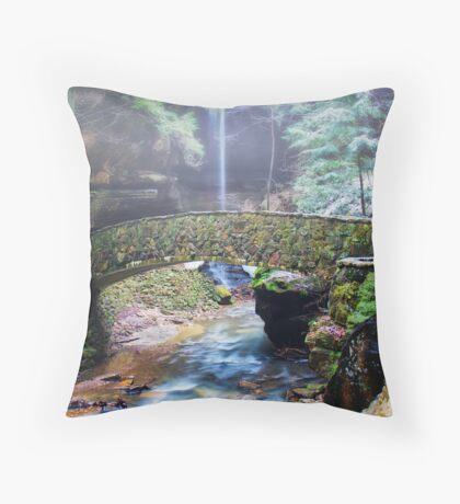 Bridge at Old Man's Cave Throw Pillow