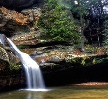 Cedar Falls in October Rain by jimcrotty
