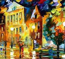 NIGHT SQUARE - LEONID AFREMOV by Leonid  Afremov