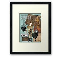 Altered Art Vintage Travel Collage Framed Print