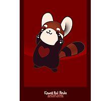 Kawaii Red Panda Photographic Print