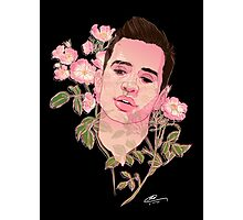 Floral Brendon Urie  Photographic Print