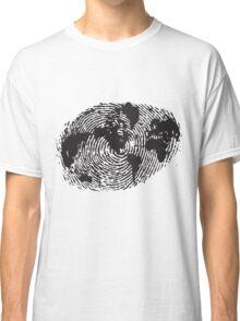 Globe Finger Print T-shirt: One Of A Kind Classic T-Shirt