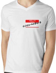 Hello My Name is Columbus Mens V-Neck T-Shirt