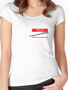 Hello My Name is Tallahassee Women's Fitted Scoop T-Shirt
