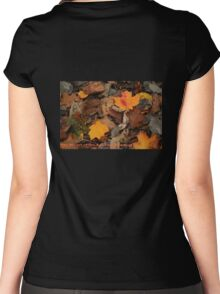 The Heart of the Leaf Grows Red Women's Fitted Scoop T-Shirt