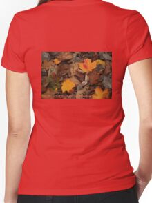 The Heart of the Leaf Grows Red Women's Fitted V-Neck T-Shirt
