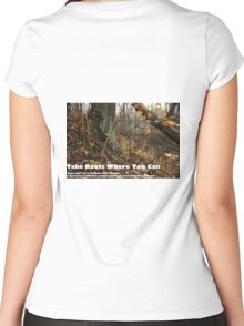 Take Roots Where You Can Women's Fitted Scoop T-Shirt