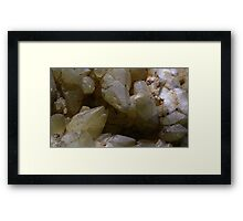 Calcite-Aragonite Framed Print