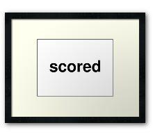 scored Framed Print