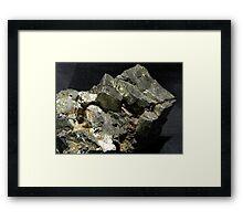 Pyrite over Galena Framed Print