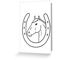 Horseshoe Headstall Greeting Card