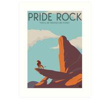 Pride Rock Poster Art Print