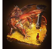 Lord of the Rings - The Hobbit - Smaug Photographic Print