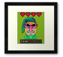 I´M NOT ZELDA! Framed Print