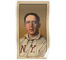 Benjamin K Edwards Collection Red Ames New York Giants baseball card portrait 002 Poster