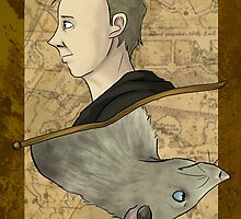Peter Pettigrew Playing Card by imaginativeink