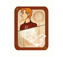 Ron Weasley Playing Card Art Print