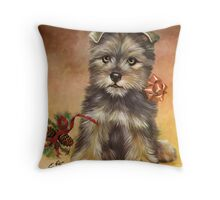 Christmas Doggy Throw Pillow