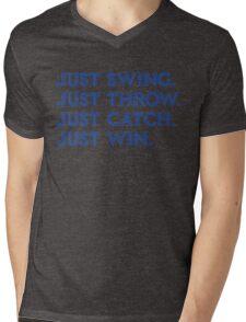 Just Win. (Blue) Mens V-Neck T-Shirt