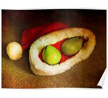 Santa pear Poster