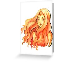 Flame Princess Greeting Card