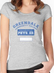Greendale Theoretical Phys. Ed.  Women's Fitted Scoop T-Shirt